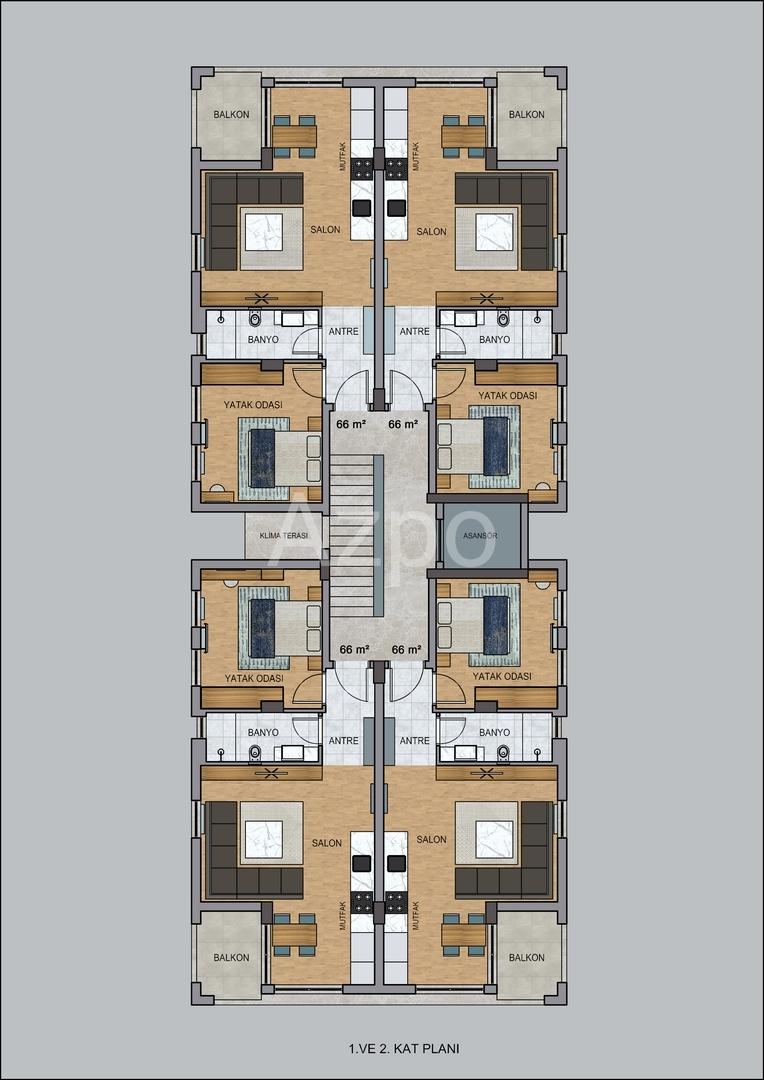 На продажу квартиры в бутик отеле в Коньяалты - Фото 22