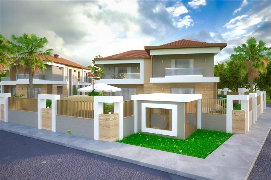 Элитные виллы 7+1 в строящемся жилом комплексе Антальи - Фото 5