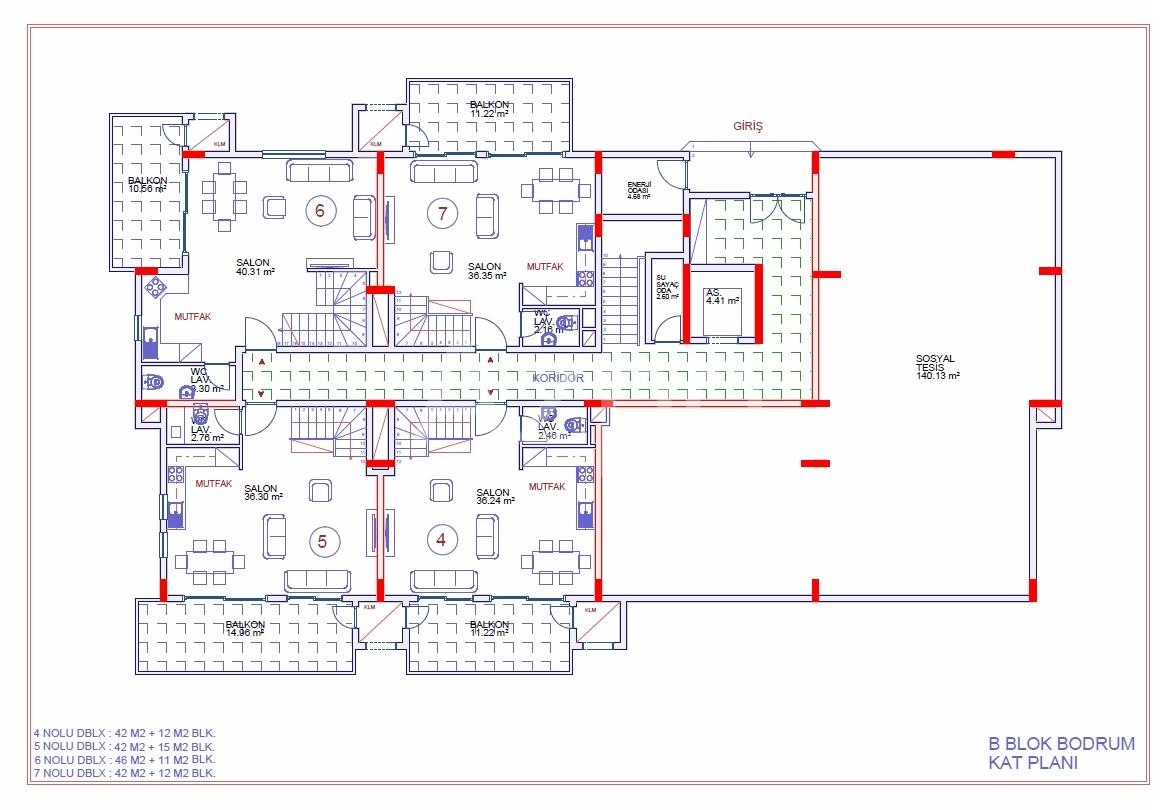 Апартаменты 2+1 в строящемся комплексе - Фото 23