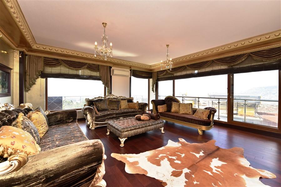 Меблированный пентхаус 3+1 с панорамным видом на Аланью - Фото 8