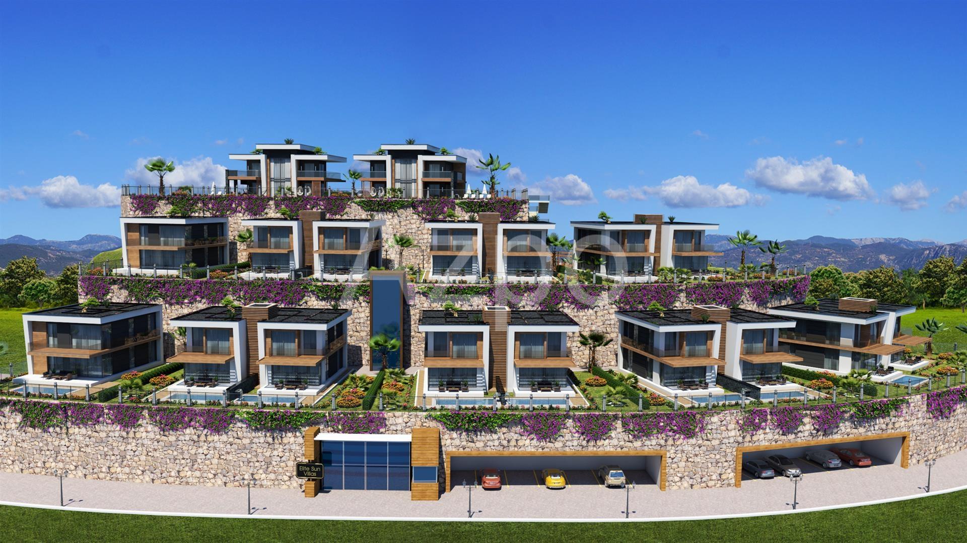 Новый проект шикарных вилл в Конаклы у моря - Фото 1