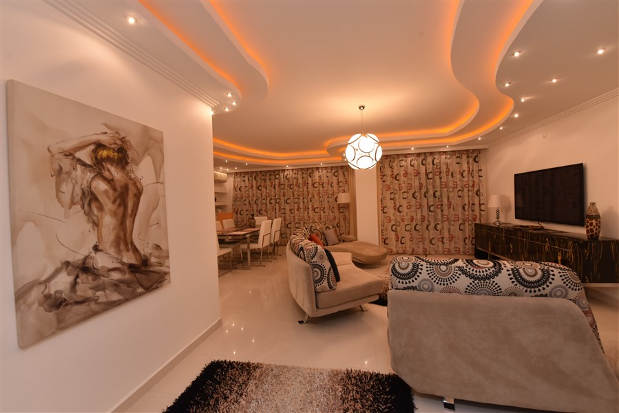 Двухуровневый пентхаус 4+1 с мебелью в центре Аланьи - Фото 21
