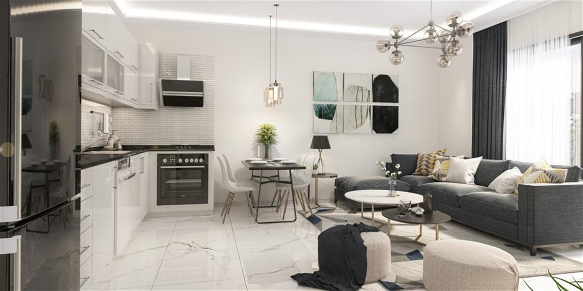Двухкомнатная квартира в новом комплексе район Оба - Фото 15