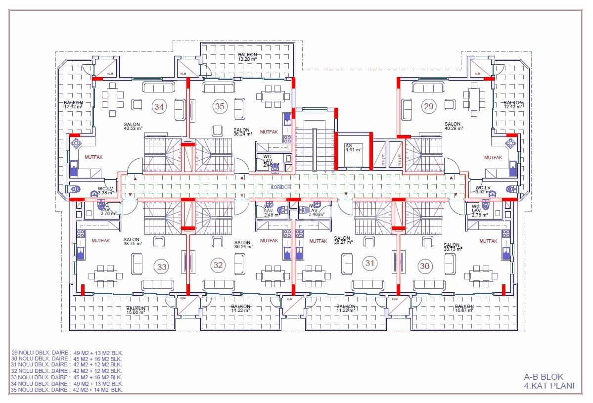 Апартаменты 2+1 в строящемся комплексе - Фото 20