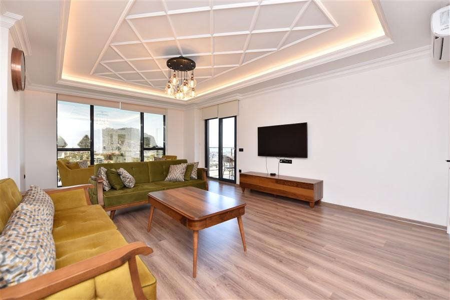 Роскошная меблированная квартира 3+1 в центральном районе Аланьи - Фото 16
