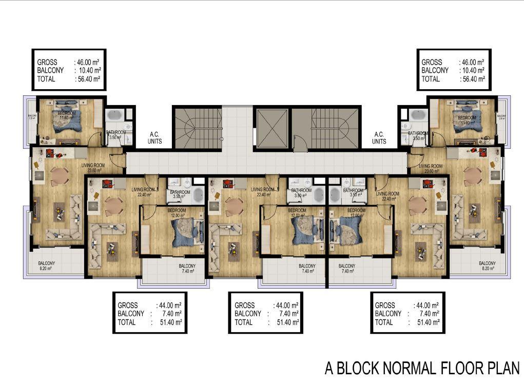 Квартиры в строящемся элитном комплексе в районе Каргыджак - Фото 29