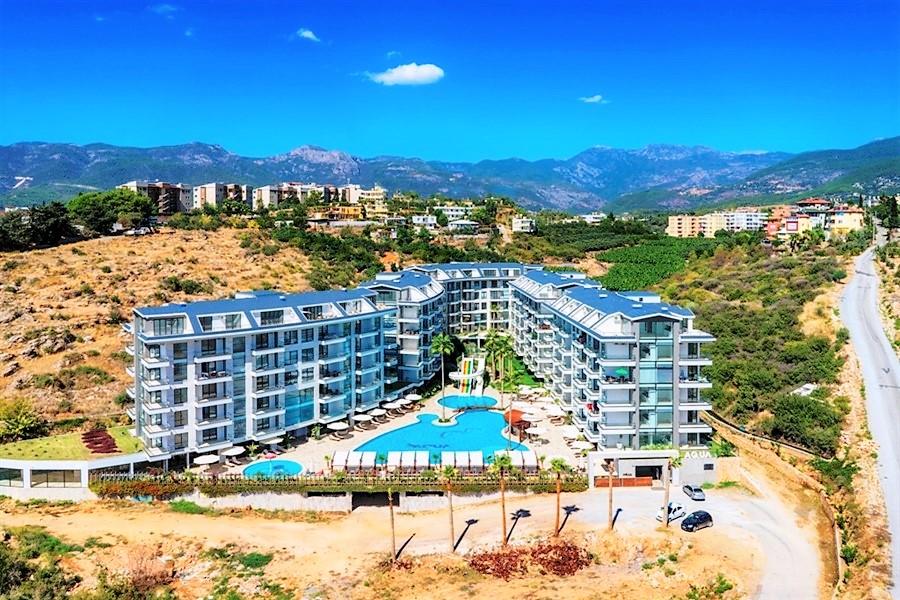 Меблированная квартира 1+1 в жилом комплексе с роскошной инфраструктурой