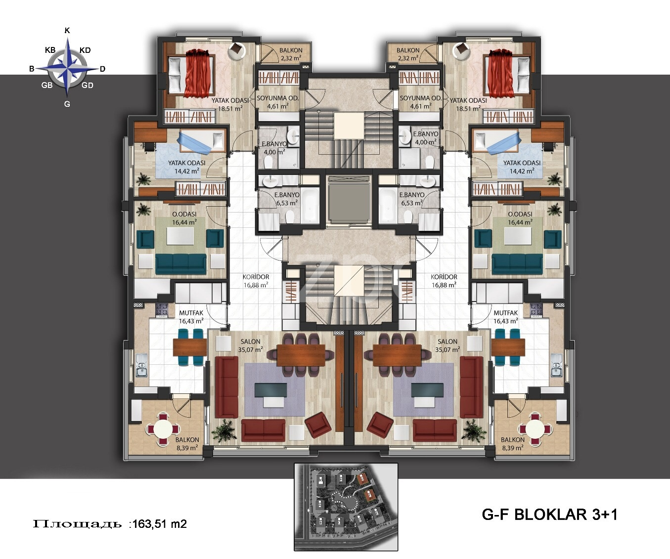 Квартиры в новом комплексе в районе Кепез - Фото 11