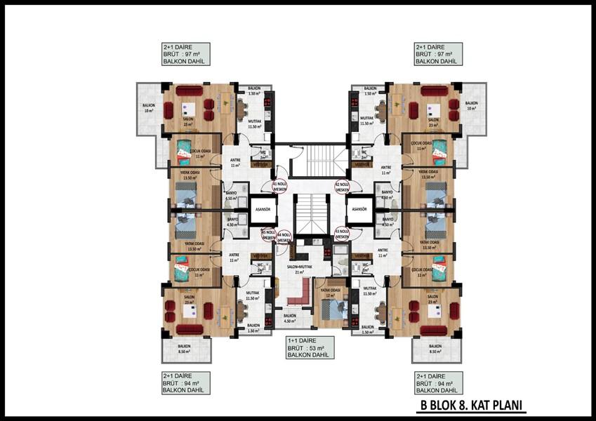Новые квартиры в центре Аланьи по ценам застройщика - Фото 37