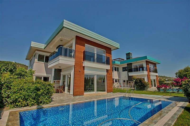 Двухэтажная вилла 4+1 с бассейном на берегу средиземного моря - Фото 4