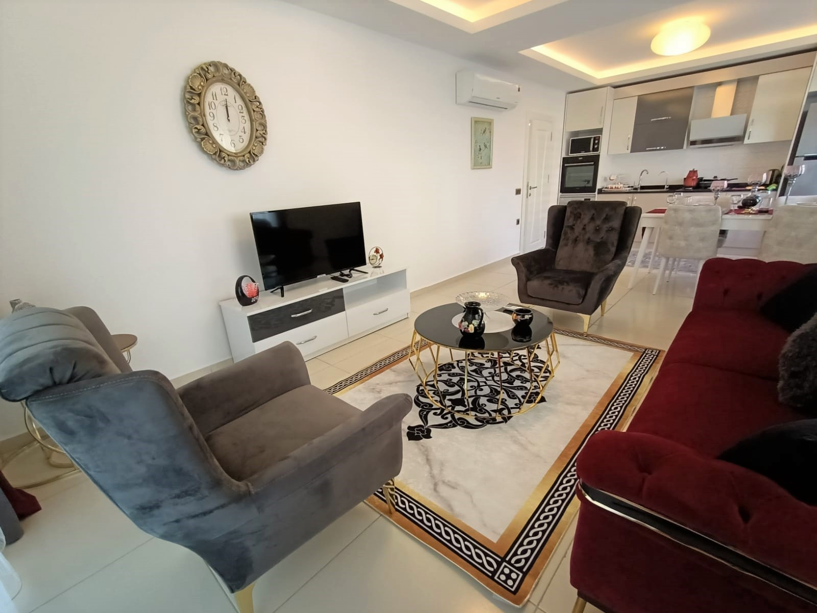 Двухкомнатная квартира с мебелью в районе Махмутлар - Фото 8