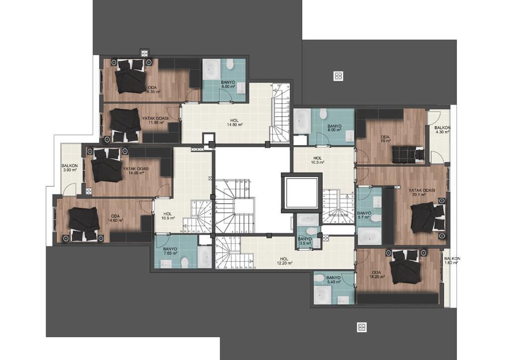 Квартиры в строящемся комплексе в центре Антальи - Фото 7