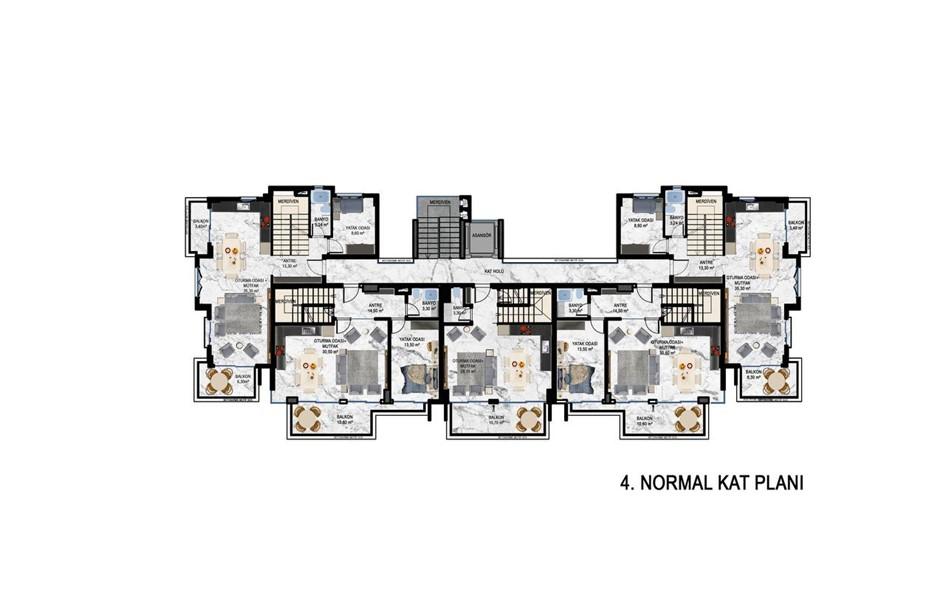 Жилой комплекс на этапе строительства в районе Кестель - Фото 24