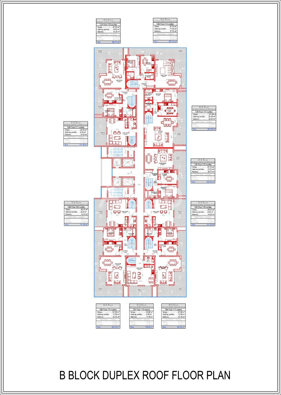 Квартиры всех типов планировок в Махмутларе - Фото 15