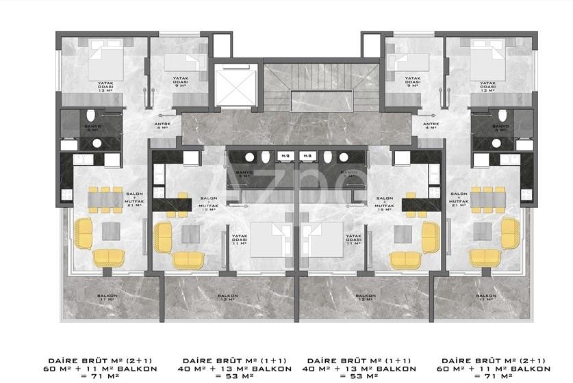 Новый жилой комплекс в центре Алании - Фото 16