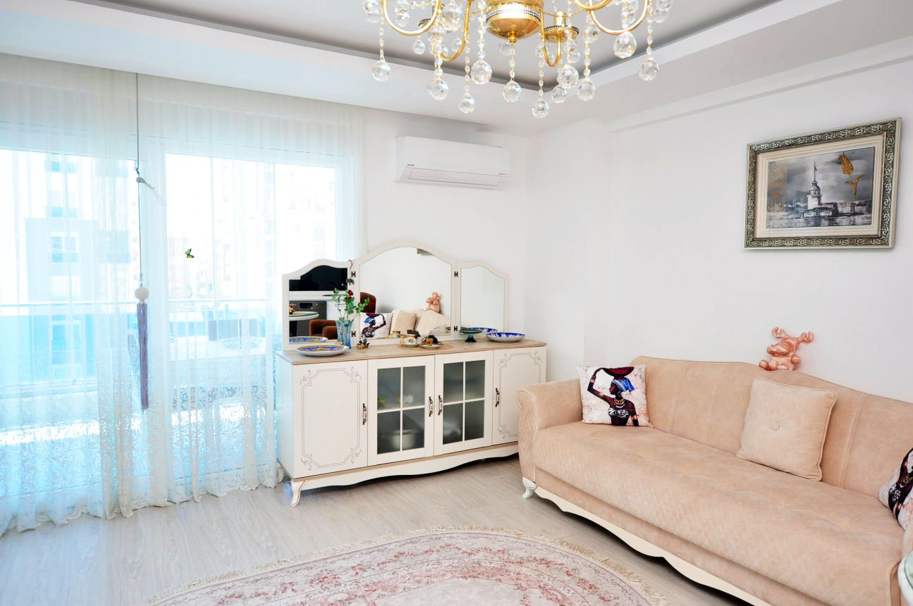 Двухкомнатная квартира с мебелью в Махмутларе - Фото 10