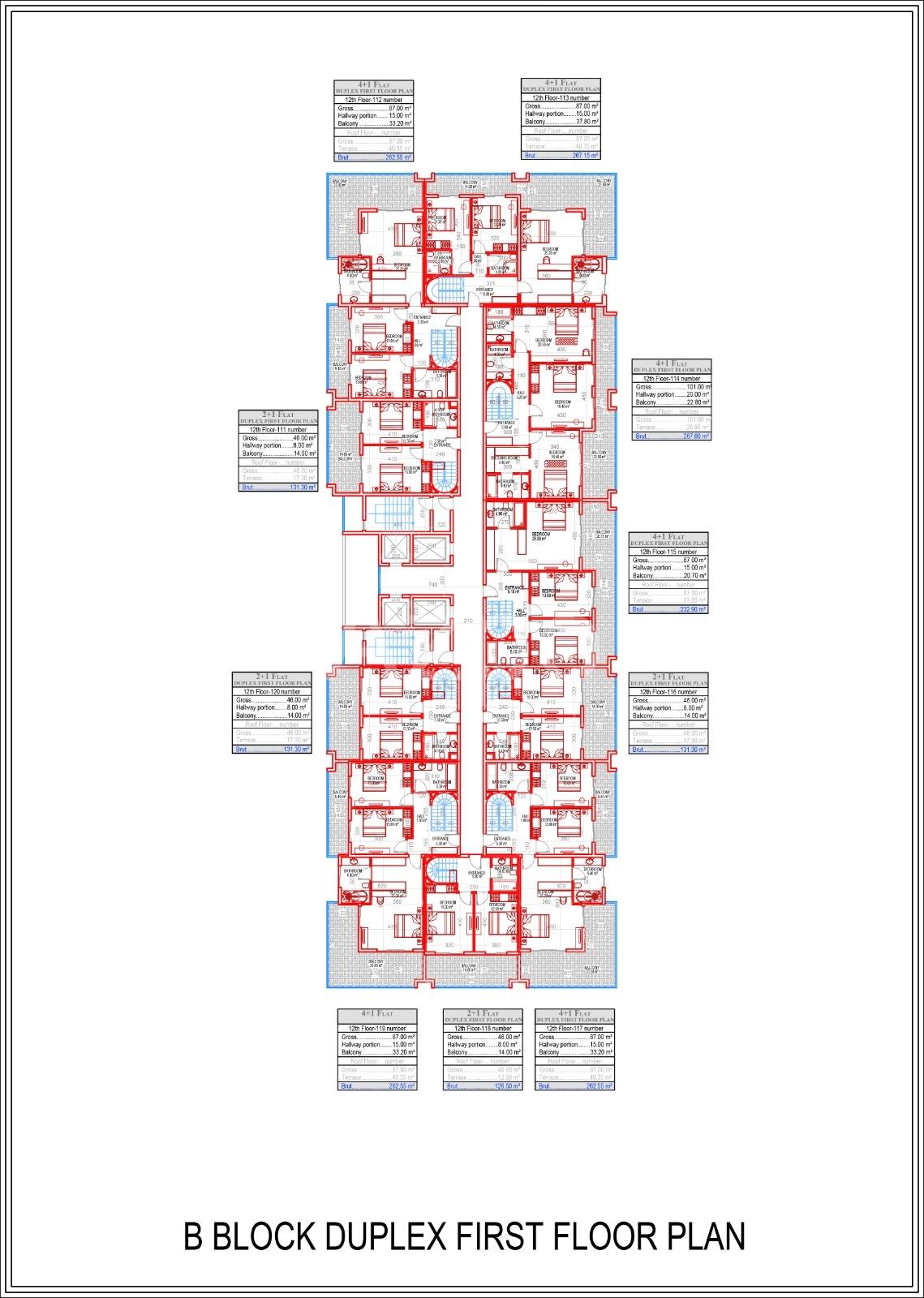 Квартиры всех типов планировок в Махмутларе - Фото 23