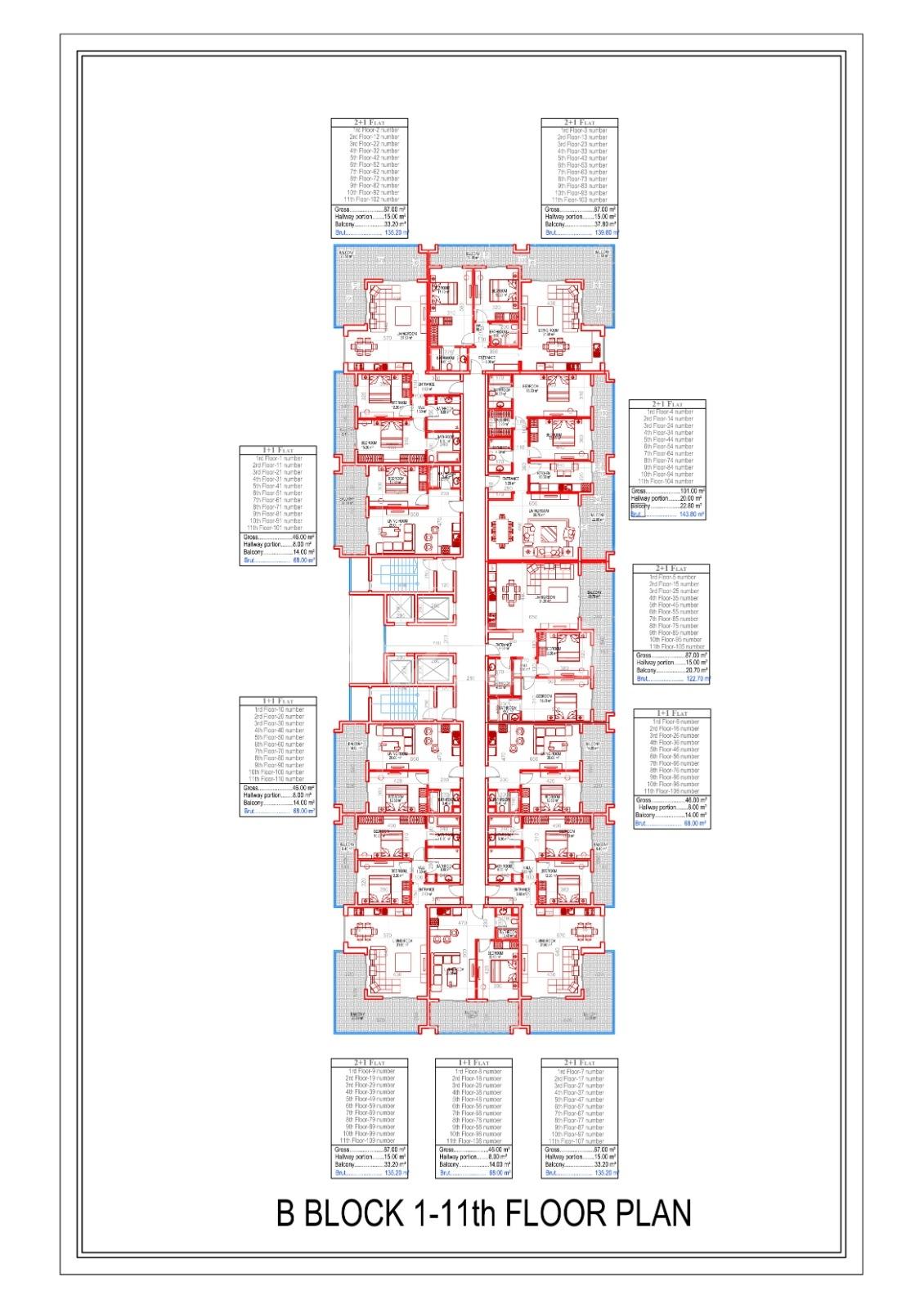 Квартиры всех типов планировок в Махмутларе - Фото 26