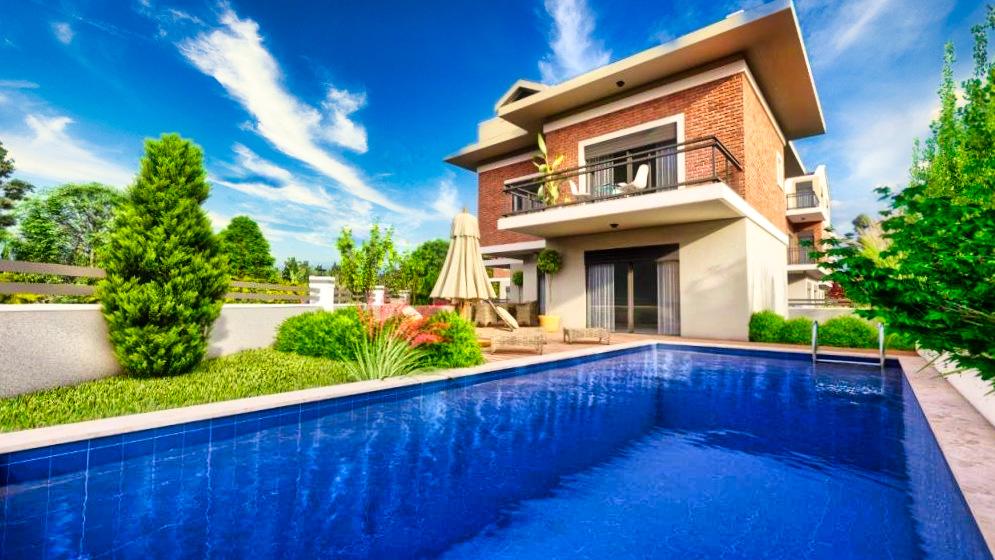 Частная вилла 5+1 с бассейном в городе Фетхие - Фото 10