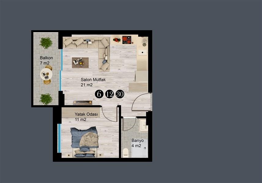 Современные квартиры и пентхаусы в посёлке Авсаллар - Фото 32
