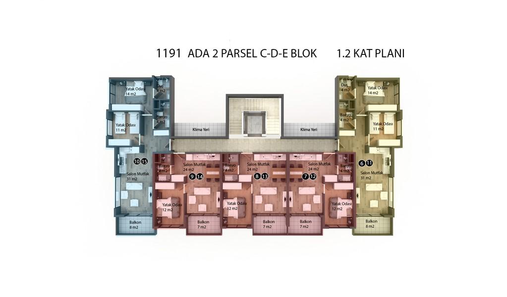 Квартиры в строящемся жилом комплексе район Кестель - Фото 42