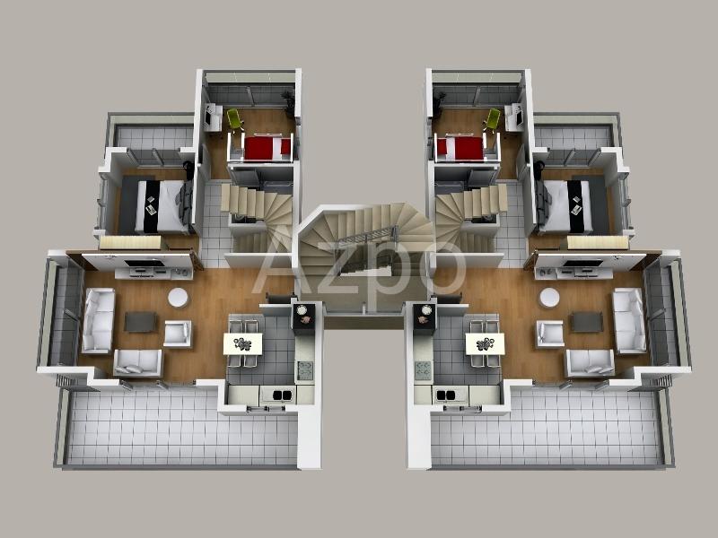 Квартиры различных планировок в Сиде - Фото 21