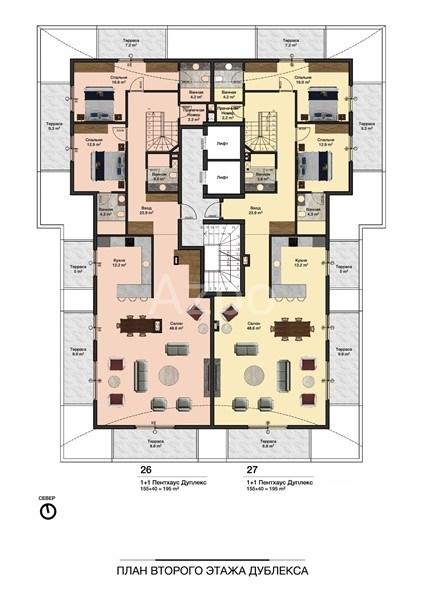 Новые квартиры разных планировок в центре Алании - Фото 8
