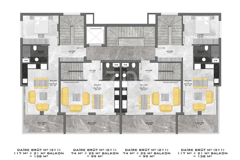 Новый жилой комплекс в центре Алании - Фото 15