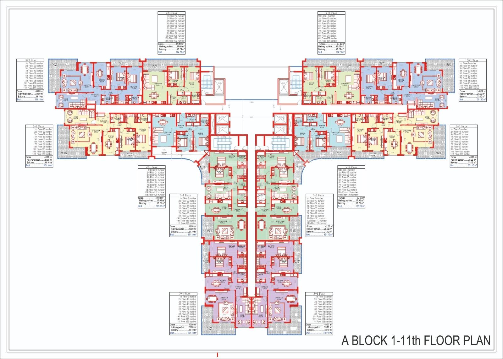Квартиры всех типов планировок в Махмутларе - Фото 22