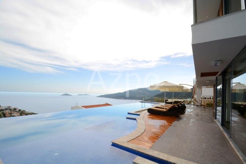 Меблированная вилла 5+1 с видом на море в городе Калкан - Фото 15