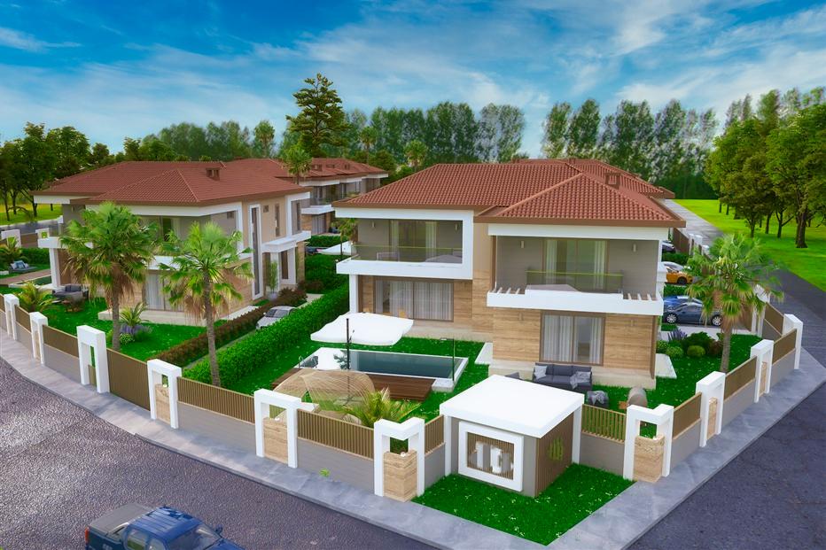 Элитные виллы 7+1 в строящемся жилом комплексе Антальи - Фото 3