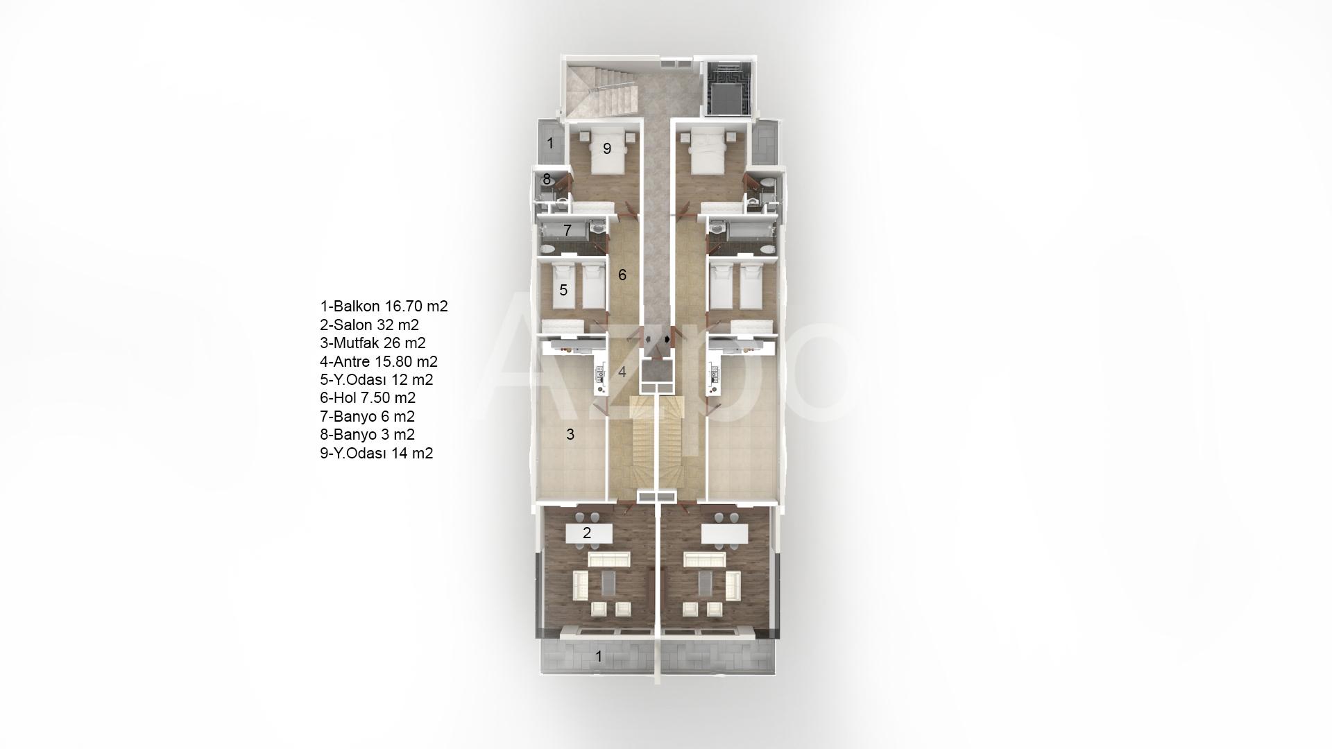 Пентхаус в комплексе на первой береговой линии - Фото 11