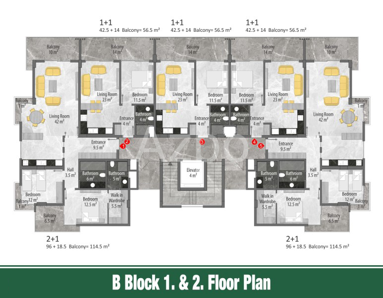 Квартиры и пентхаусы в новом комплексе Оба - Фото 18