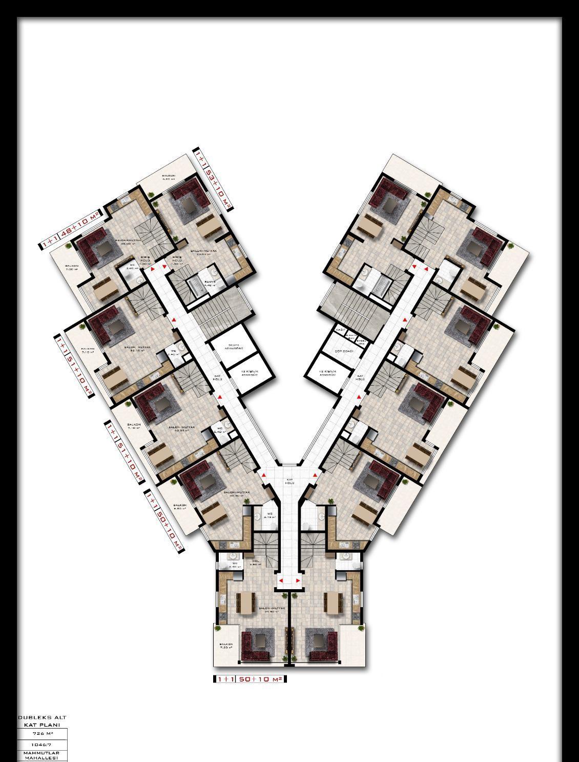 Квартиры и пентхаусы в комплексе с богатой инфраструктурой район Махмутлар - Фото 17