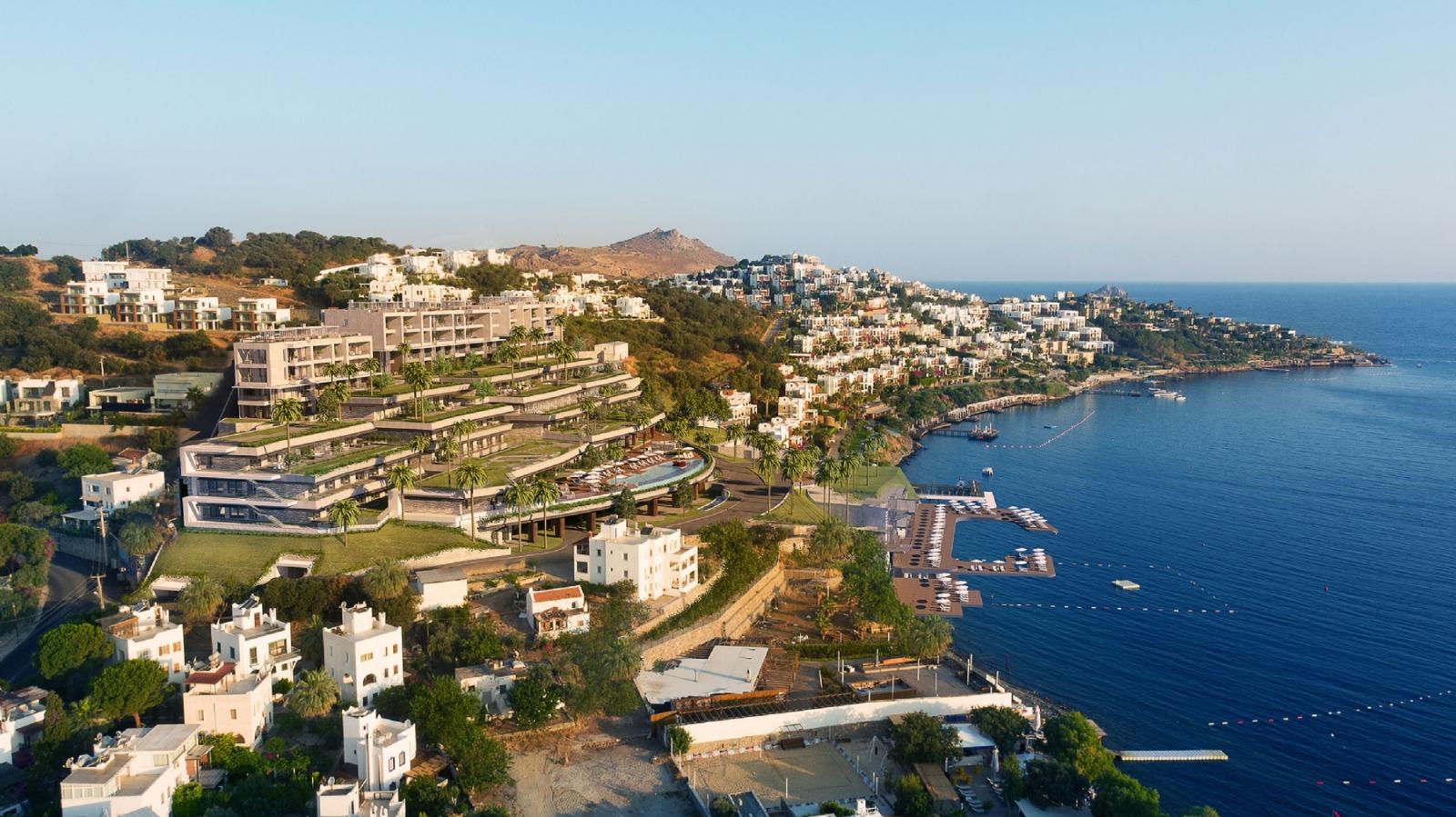 Роскошные квартиры на побережье Эгейского моря в Бодруме