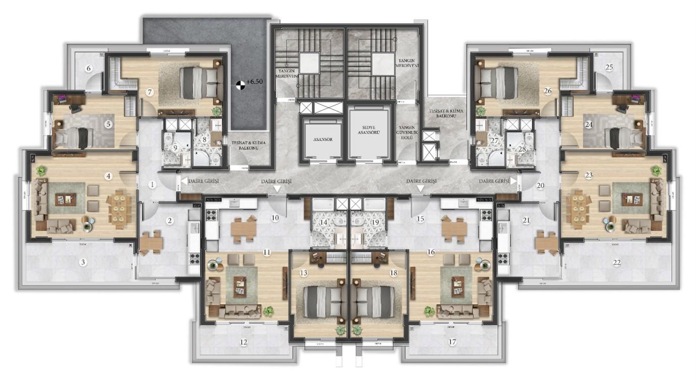 Квартиры в строящемся жилом комплексе в микрорайоне Алтынташ - Фото 8