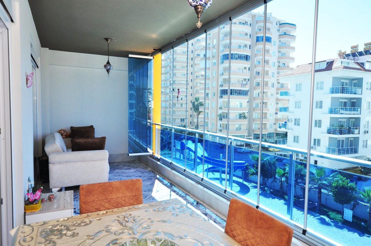 Двухкомнатная квартира с мебелью в Махмутларе - Фото 21