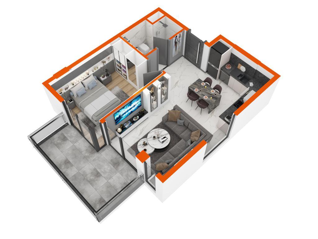 Квартиры в комплексе класса LUX район Оба - Фото 37