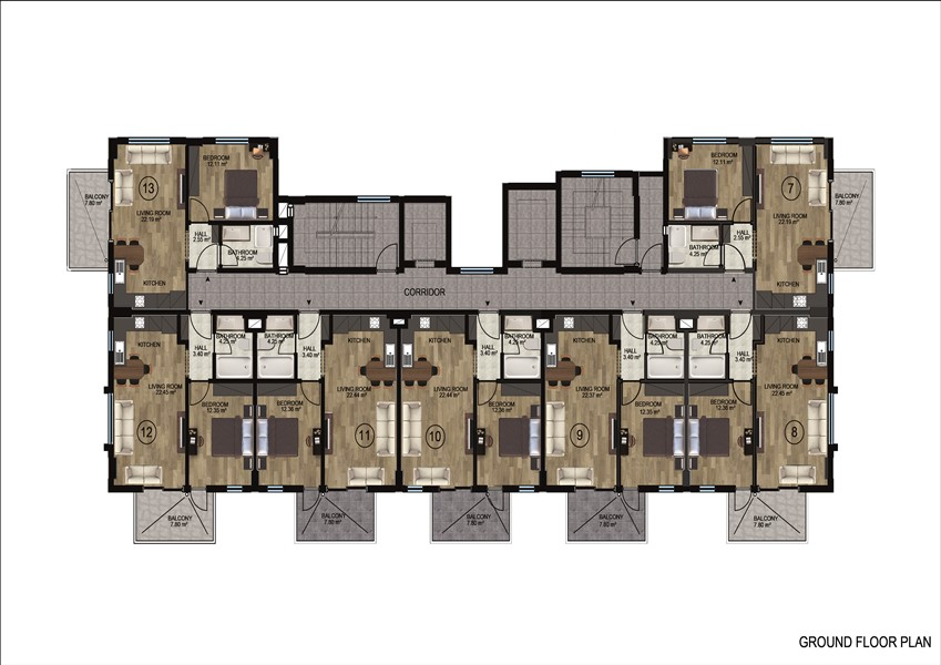 Квартиры в районе Демирташ по ценам застройщика - Фото 21