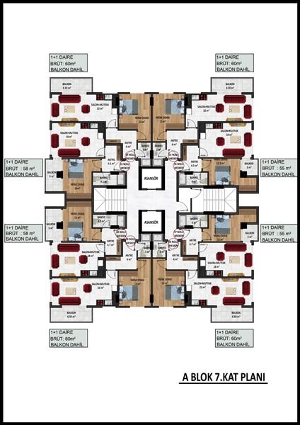 Новые квартиры в центре Аланьи по ценам застройщика - Фото 25
