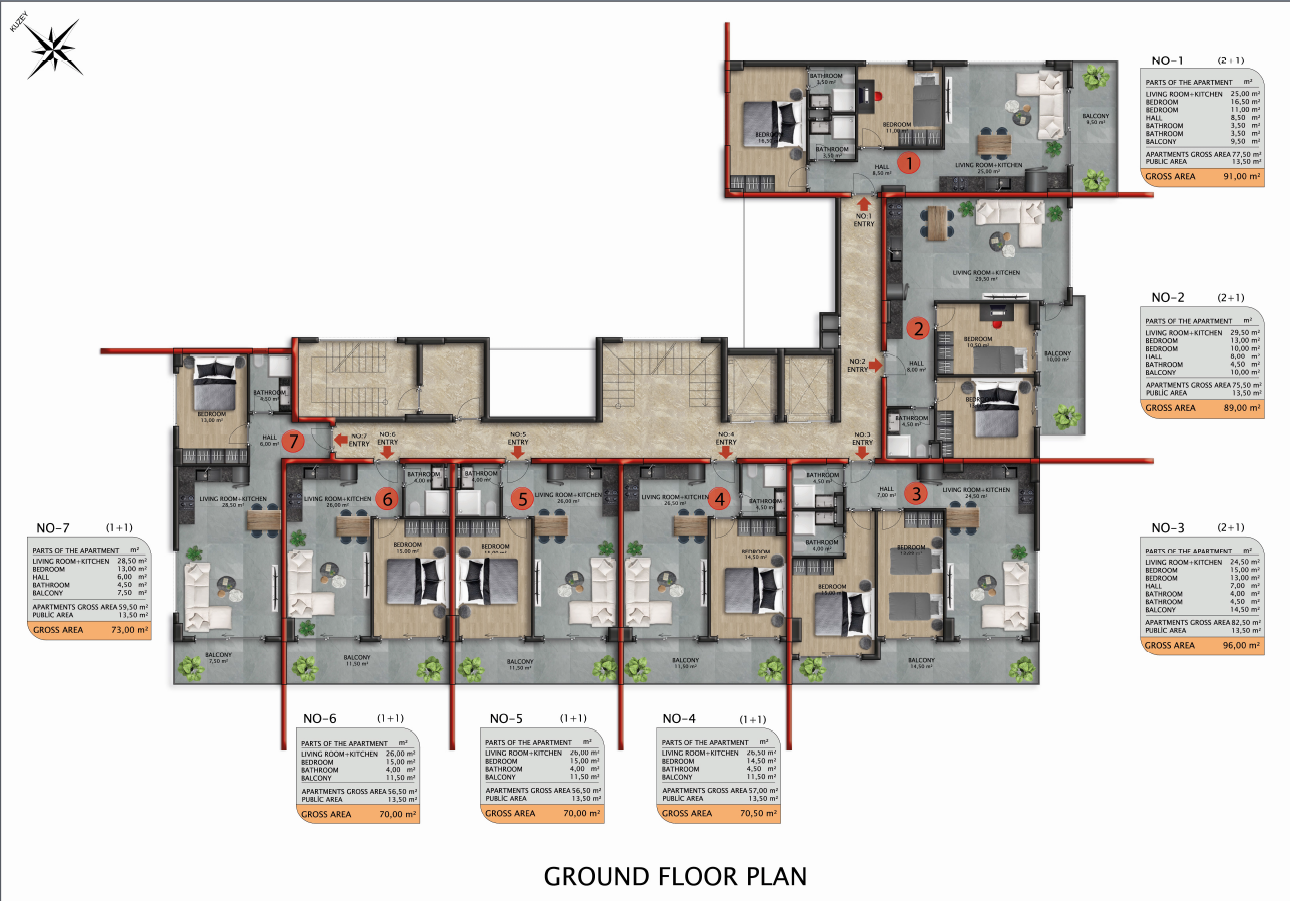 Квартиры и пентхаусы в строящемся комплексе - Фото 42