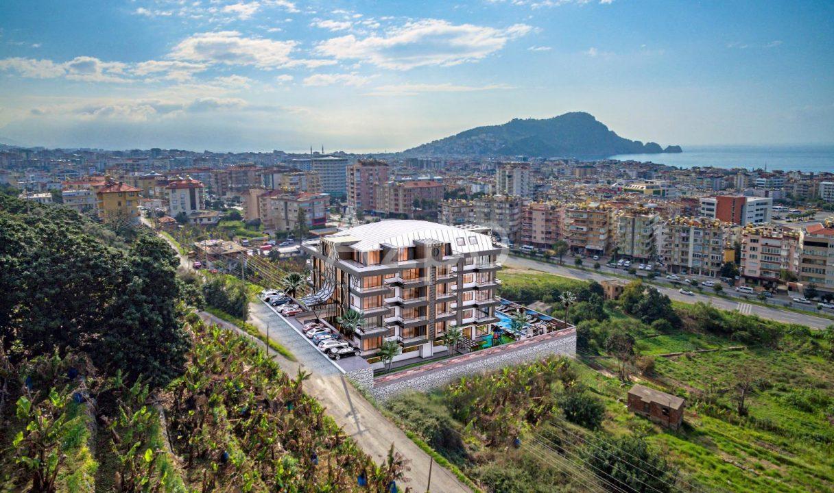 Строящийся комплекс в центре Алании с рассрочкой - Фото 1