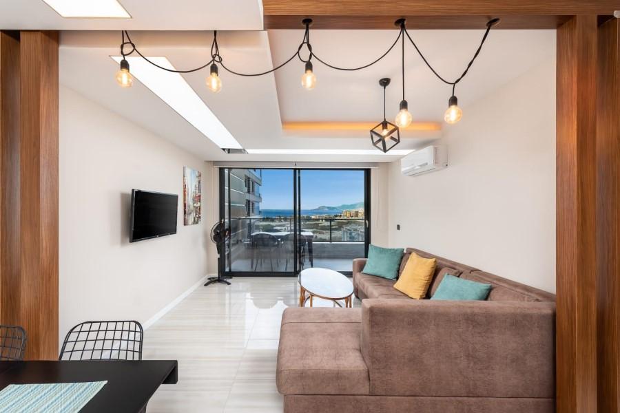 Видовая квартира 1+1 с мебелью в роскошном жилом комплексе - Фото 21