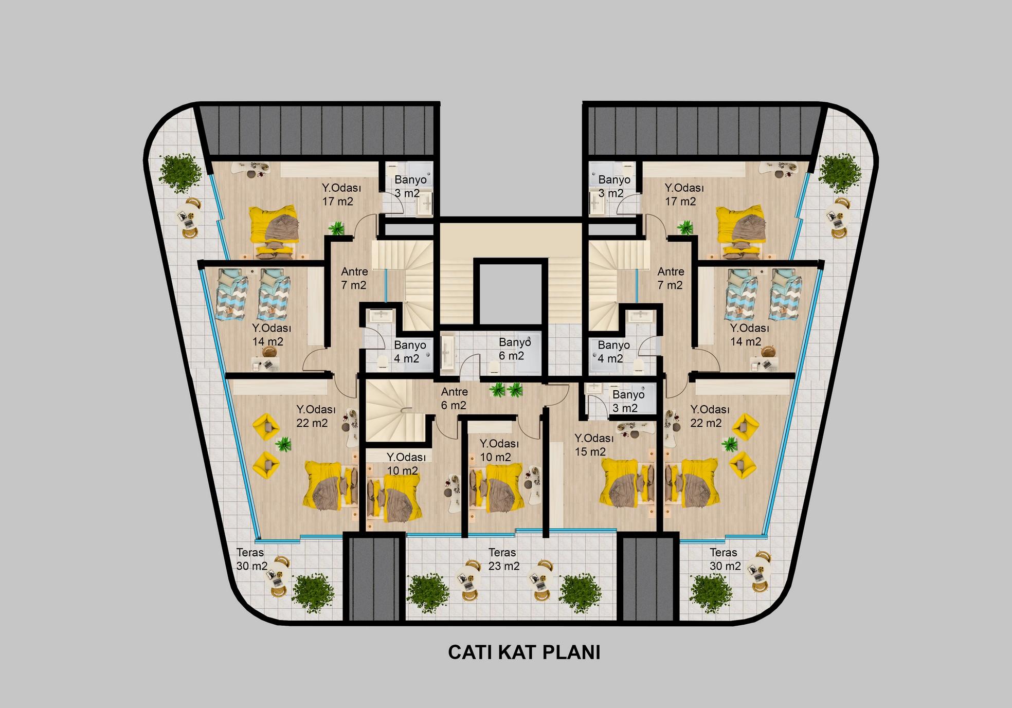 Элитные квартиры в районе Каргыджак - Фото 32