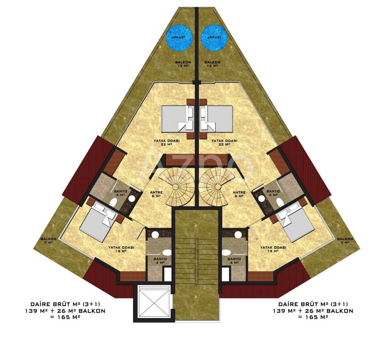Квартиры в новом комплексе в центре Алании - Фото 13