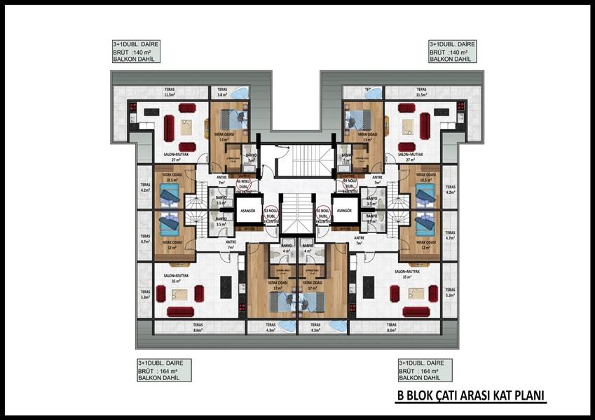 Новые квартиры в центре Аланьи по ценам застройщика - Фото 40
