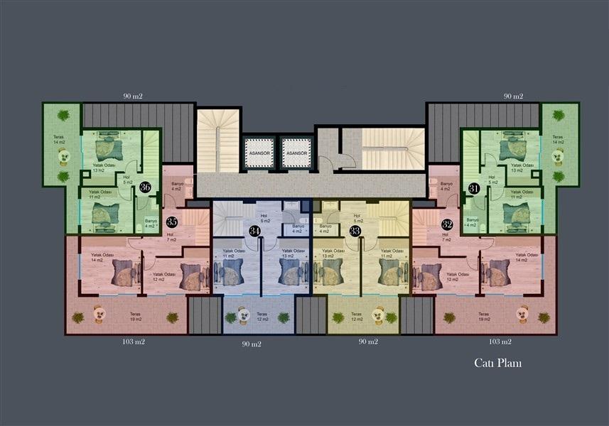 Современные квартиры и пентхаусы в посёлке Авсаллар - Фото 29