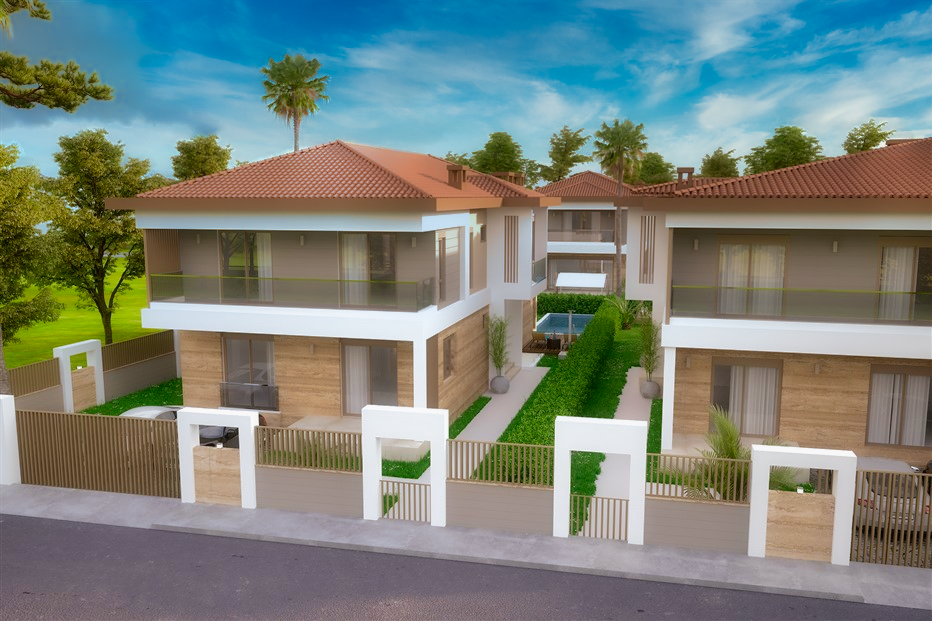 Элитные виллы 7+1 в строящемся жилом комплексе Антальи - Фото 4