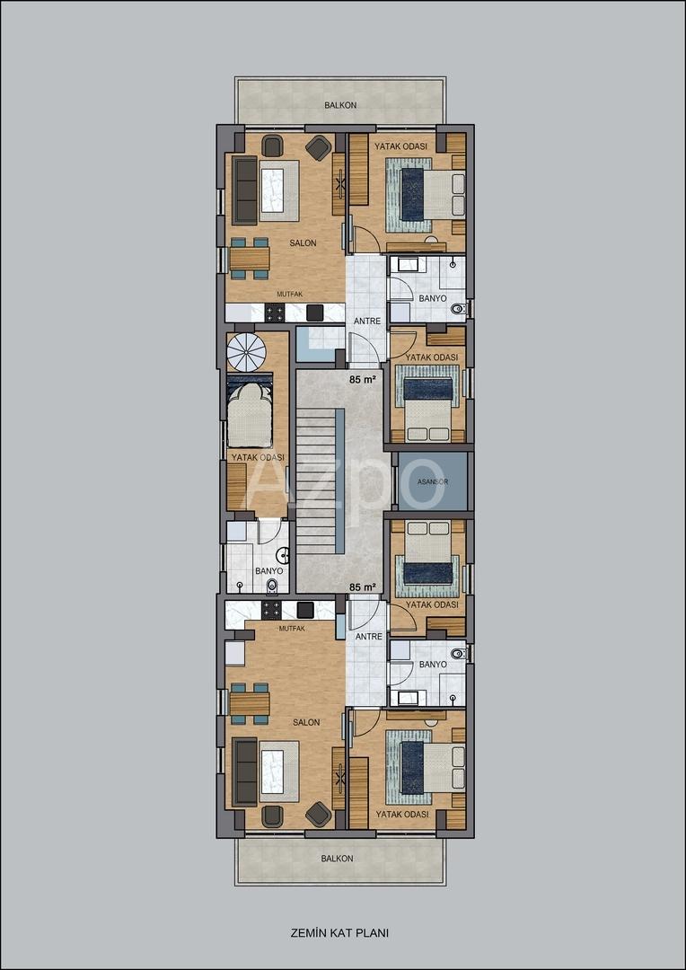 На продажу квартиры в бутик отеле в Коньяалты - Фото 21