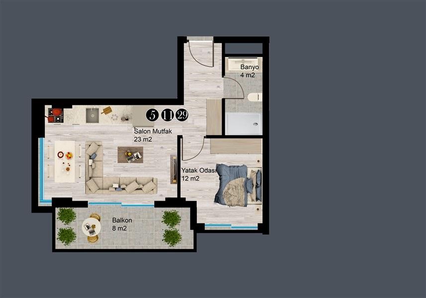 Современные квартиры и пентхаусы в посёлке Авсаллар - Фото 35